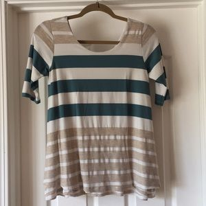 Anthropologie Striped Tee with Back Cutout